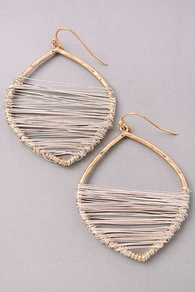 Matte Gold Wrapped Earring