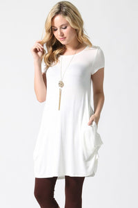 Convertible Draping Tunic Ivory