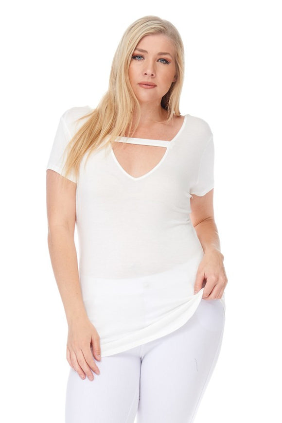 Criss Cross Tee Off White