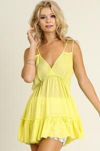 Mermaid Ruffle Tunic Limoncello