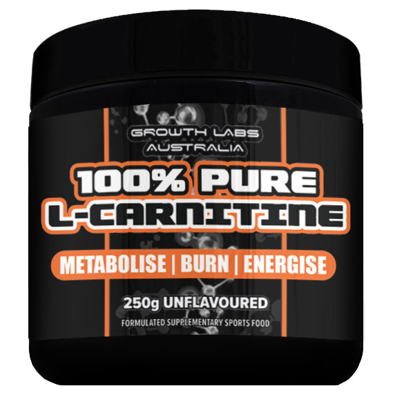 100% Pure L-Carnitine 250g by Growth Labs Australia