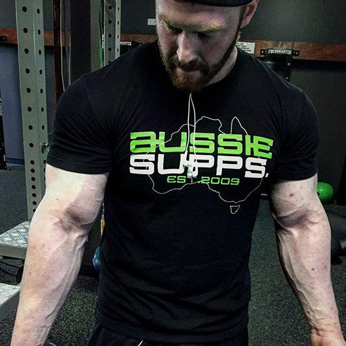 AUSSIE SUPPS Shirt Black