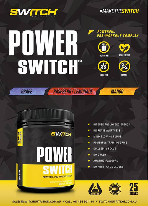 Switch Nutrition Power Switch Info graphic