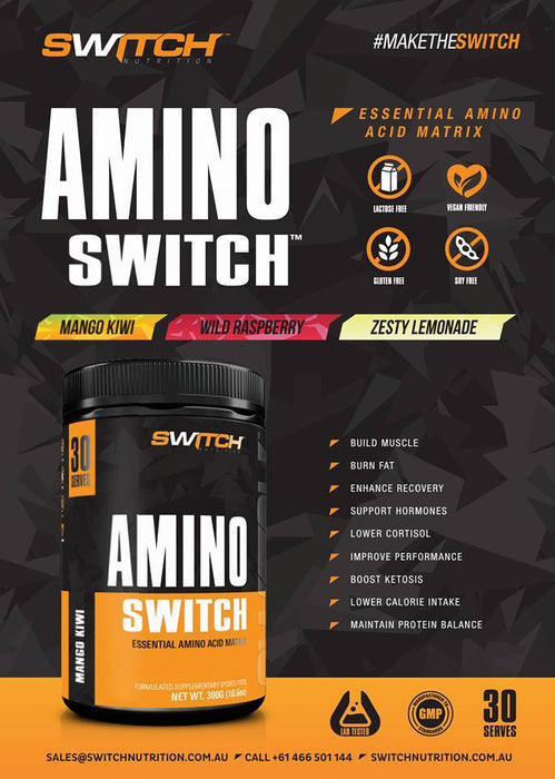 Switch Nutrition Amino Switch Info Graphic