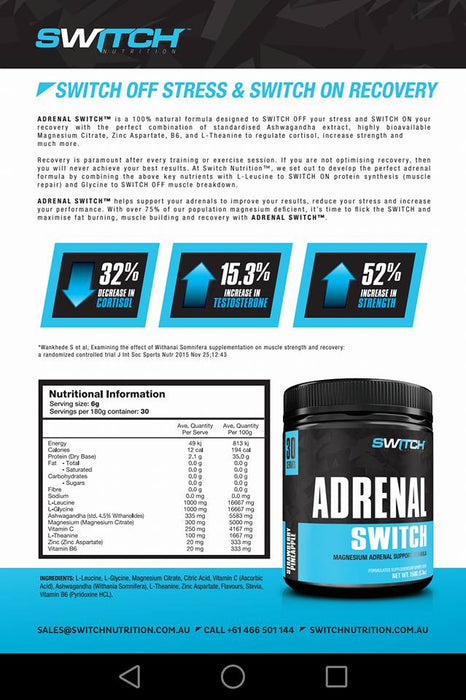 Adrenal Switch Info Graphic