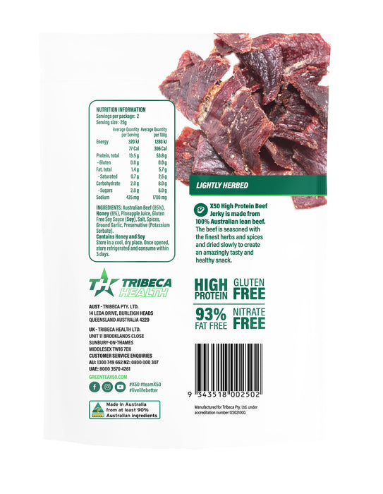 High Protein Beef Jerky by X50