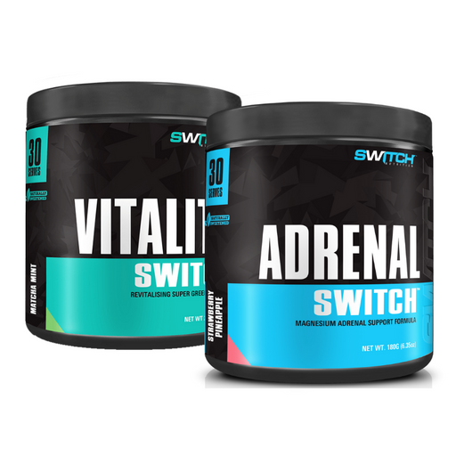 Vitality Switch + Adrenal Switch 30 Serve Deal by Switch Nutrition