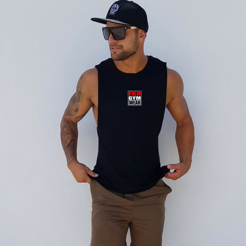 f6cb0985003 FKN Gym Wear Logo - Sleeveless — Aussie Supps