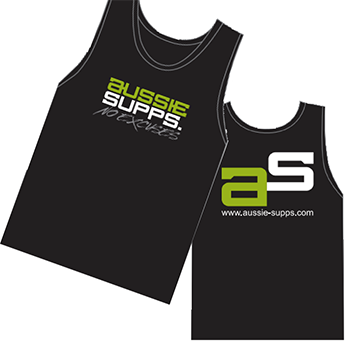 AUSSIE SUPPS Singlet Black