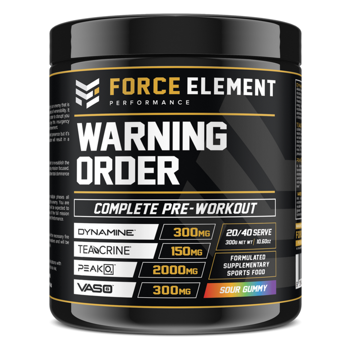 Warning Order Complete Pre Workout by Force Element Performance