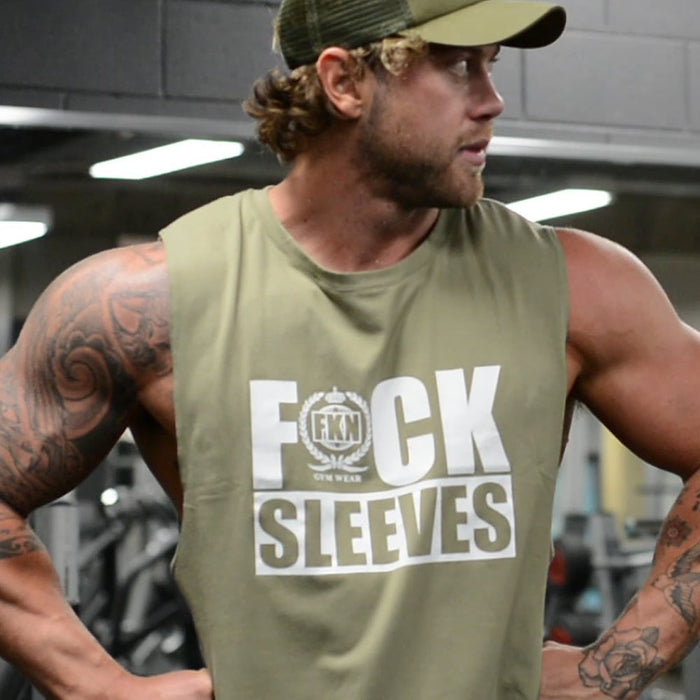 FKN Gym Wear F#CK SLEEVES – Khaki