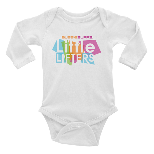 Aussie Supps Little Lifters Baby Long Sleeve Bodysuit
