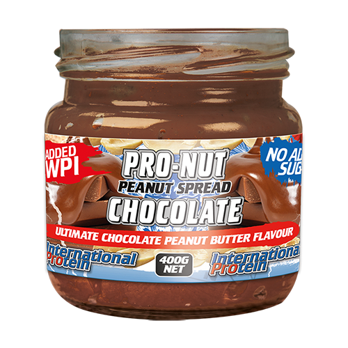 Pro Nut High Protein Chocolate Peanut Butter Spread by International Protein