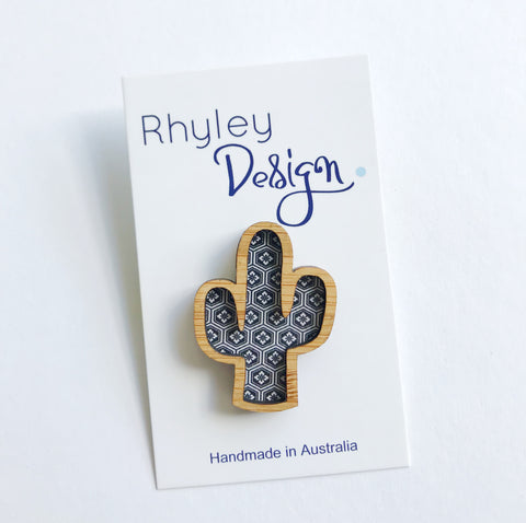 Rhyley Design: Wooden Cactus - Geometric