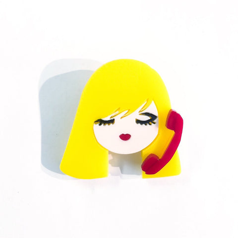 Baccurelli: Call Me MINI Brooch