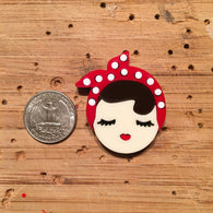 Baccurelli: Rosie The Riveter Brooch