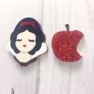 Baccurelli: PRE ORDER Bitten Apple Brooch SET