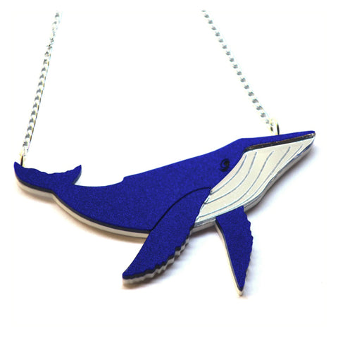 Kimchi & Coconut: Galactic Whale Necklace - Shimmering Blue