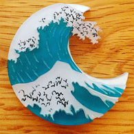 Kimchi & Coconut: The Great Wave Brooch
