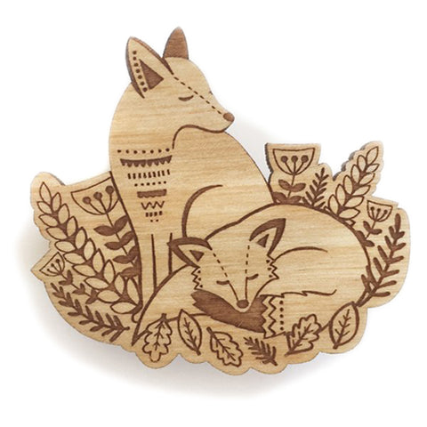 Layla Amber: Foxes In The Forest Brooch
