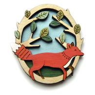 Layla Amber: Running Fox Brooch