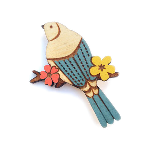 Layla Amber: Swallow in the Trees Brooch