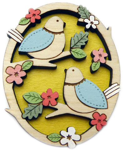 Layla Amber: Two Little Birds Brooch