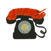 Lou Taylor: Lobster Phone Brooch