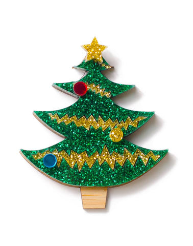 Martinis & Slippers: Christmas 2017 Tree 1 Brooch