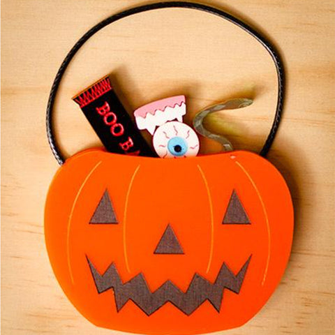 Martinis & Slippers: Halloween Jack-O-Lantern Brooch