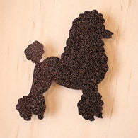 Martinis & Slippers: Poodle in Black Glitter