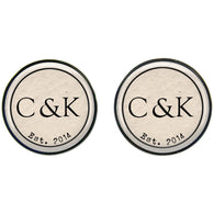 Max & Me Designs: Couple Monogram Cufflinks