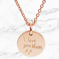 Max & Me Designs: Handwritten from the Heart Personalised Pendant - Rose Gold