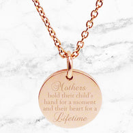 Max & Me Designs: Hold Their Hand For a Moment Pendant - Rose Gold