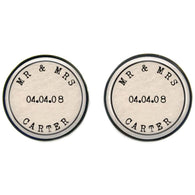 Max & Me Designs: Mr & Mrs Cufflinks