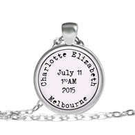 Max & Me Designs: Personalised Birth Pendant: 1 child