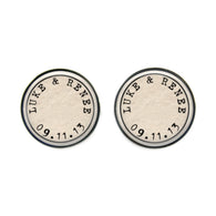 Max & Me Designs: Personalised Couple Cufflinks