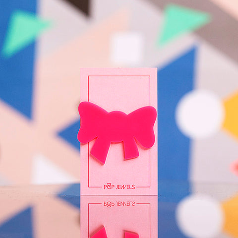 Pop Jewels: Pop Pins - The Bow - Hot Pink