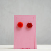Pop Jewels: Pop Studs - Starburst - Red/Red Glitter