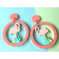 Revere Folie - Flamingo Dance Earrings