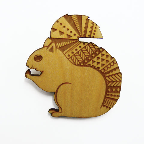 Layla Amber: Woodland Squirrel Brooch