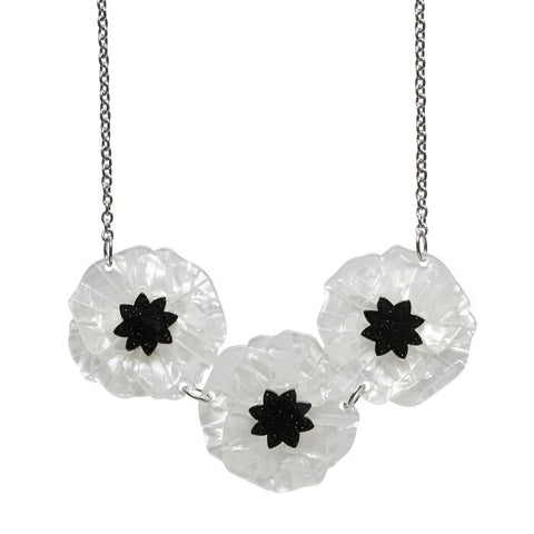 Erstwilder Poppy Fields Necklace: White