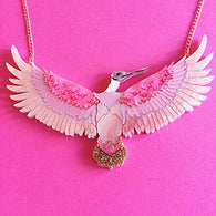 Kimchi & Coconut: Roseate Spoonbill LIMITED EDITION Necklace