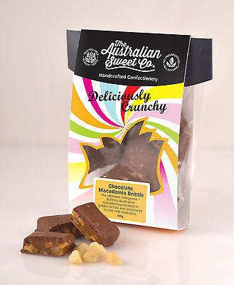 Crunchy Chocolate Macadamia Brittle