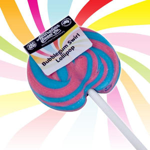 Bubblegum lollipops