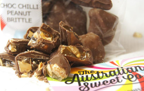 Chocolate Chilli Peanut Brittle