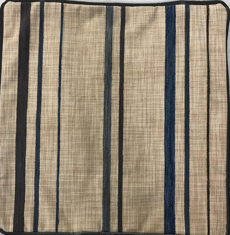 Blue Stripes on Brown