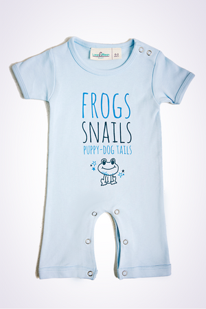 frogs and snails romper