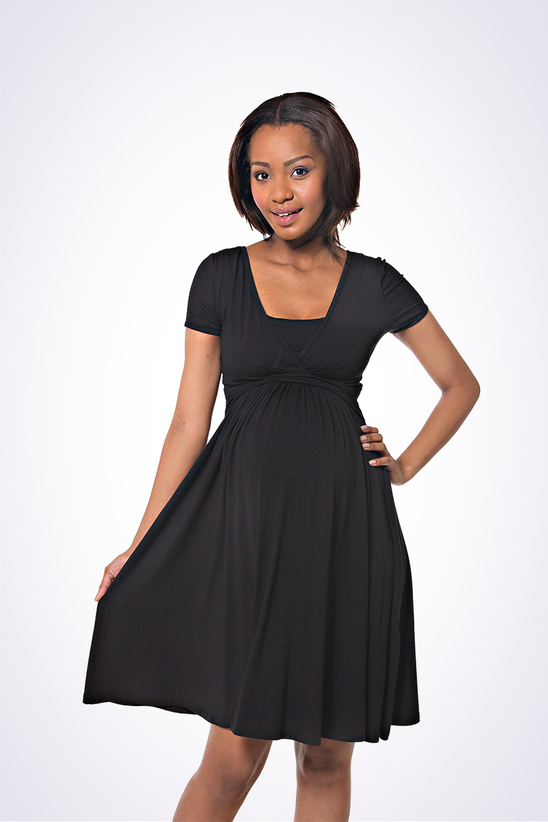 cute black maternity dress