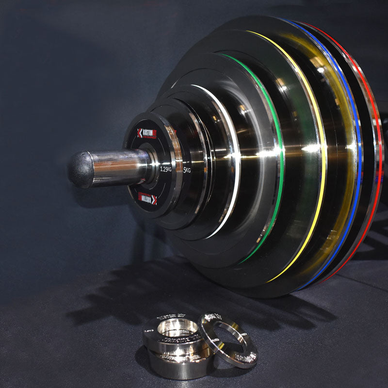 155kg Calibrated Powerlifting Plate Set Package